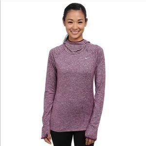 Nike Element dri fit running high neck hoodie